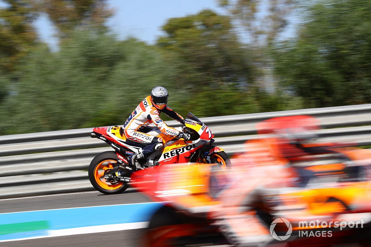 Fotos: las MotoGP vuelven a rodar cuatro meses después en Jerez
