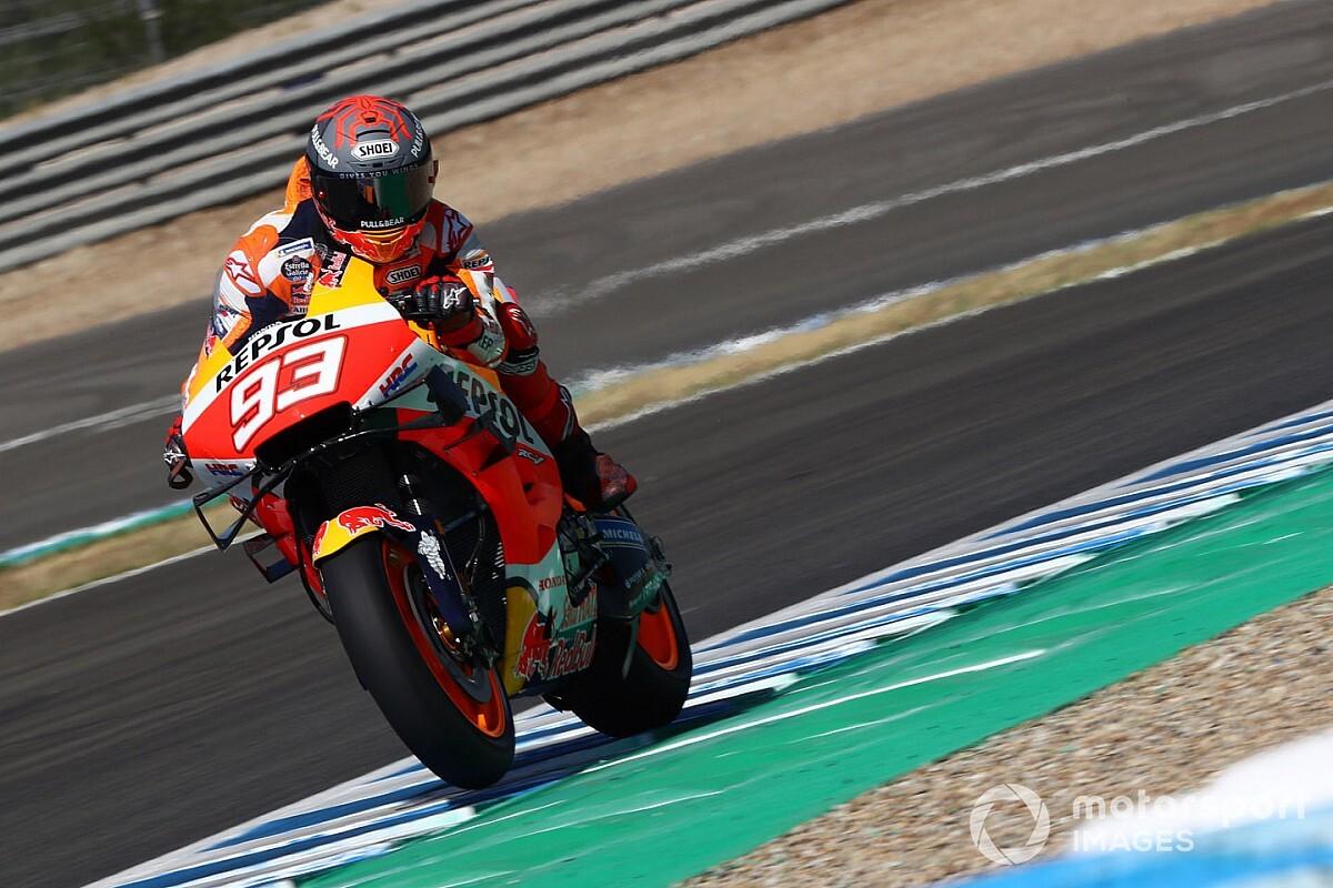 Marquez klokt snelste tijd in eerste vrije training GP van Spanje