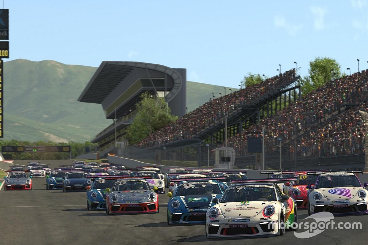 Porsche Esports Carrera Cup: Jeff Giassi vence as duas de Barcelona e reassume liderança do campeonato