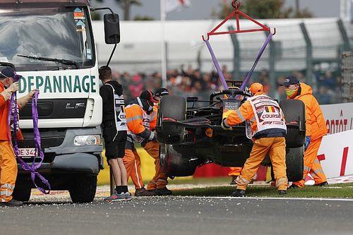 """Verstappen, """"muy feliz"""" en Spa pese a su accidente"""