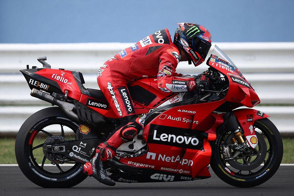 Bagnaia también manda en el test de Misano y Márquez prueba la Honda de 2022