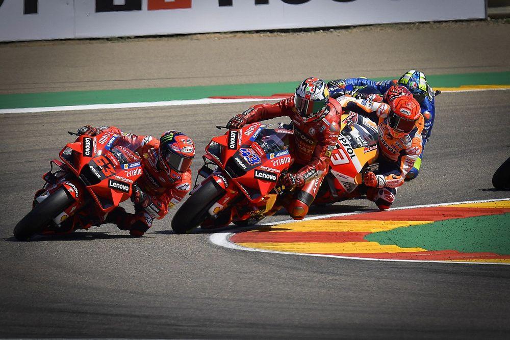 MotoGP: Bagnaia, che duello ad Aragon con Marquez