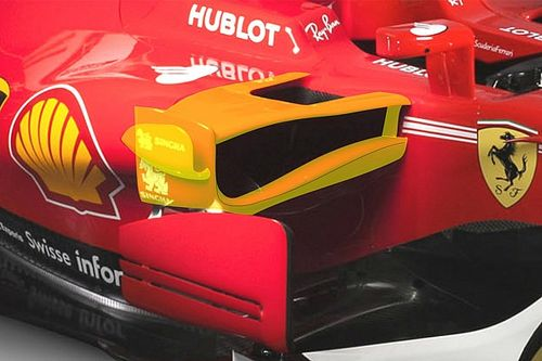 Az autó középső területe igazán egyedi a Ferrari 2017-es autóján
