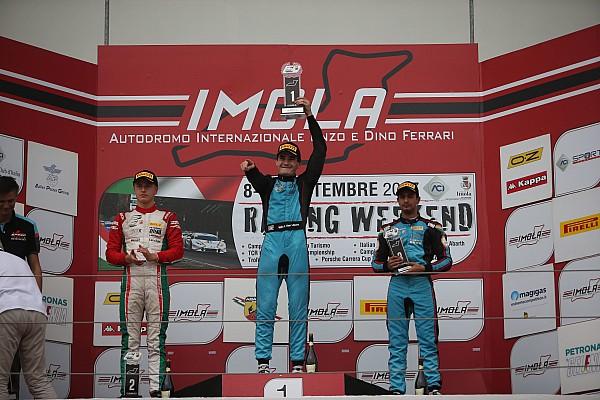 Formula 4 Gara Gara 2: Van Uitert si impone sotto la pioggia di Imola