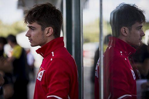 Hungary F2: Leclerc sets practice pace as De Vries crashes