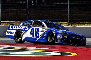 Jimmie Johnson wins Stage 2 at Sonoma as contenders find trouble