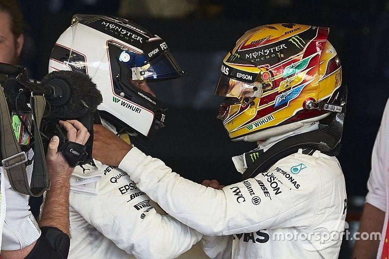 Strijd tussen Hamilton en Bottas loopt niet uit de hand, verwacht Mercedes