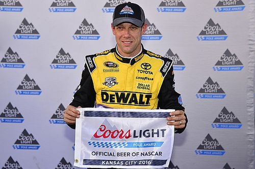 Kenseth leads Gibbs 1-2-3 in Kansas qualifying