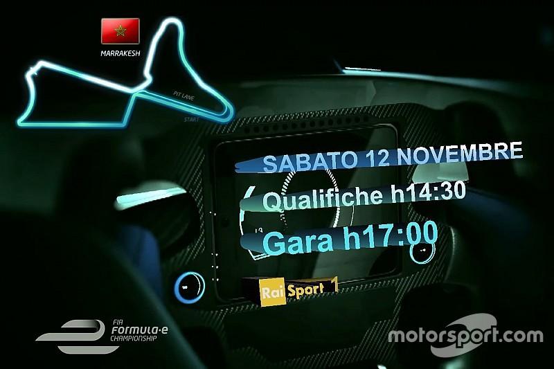Ecco la programmazione TV dell'ePrix di Marrakech
