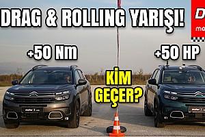 Citroen C5 Aircross Benzin vs Dizel | C-SUV Savaşı | Drag Yarışı