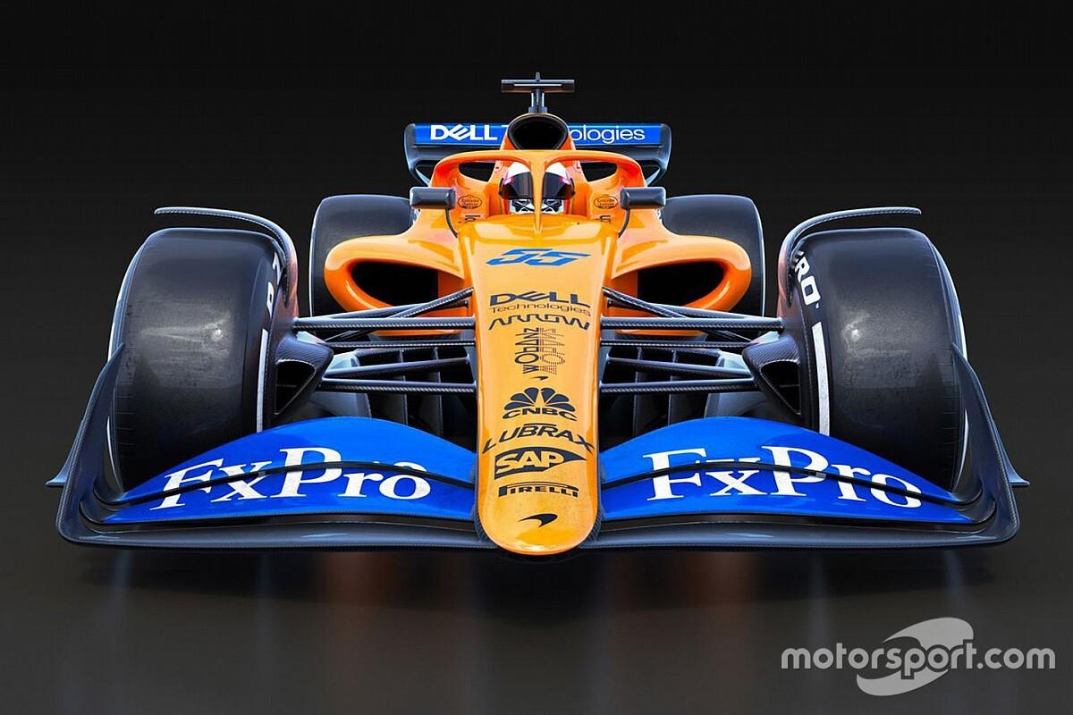 GALERIA: McLaren brinca com regras da F1 e simula carro de 2021