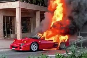Videó: Kiégett egy ultraritka F40-es Ferrari Monacóban