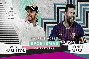 Hamilton divide com Messi prêmio de Atleta do Ano no Prêmio Laureus