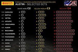 Анонс Гран При США: выбор шин, элементы силовых установок, штрафные баллы