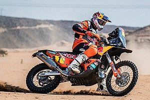 Price's roadbook tore in half during Dakar opener