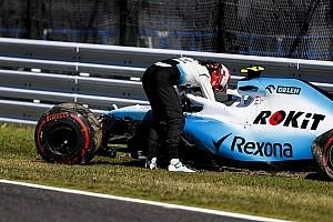 Williams gebruikt nieuwe voorvleugel niet, Kubica furieus
