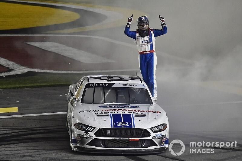 Chase Briscoe wins rain-delayed Las Vegas Xfinity race