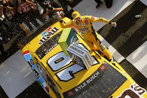 NASCAR Cup Pocono: Kyle Busch wins while low on fuel, stuck in fourth