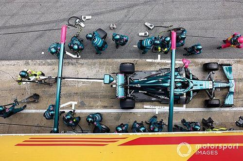 Aston Martin klokt snelste pitstop tijdens Spaanse Grand Prix