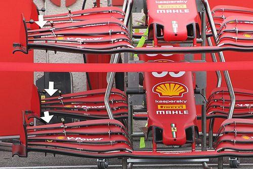 Технический брифинг: переднее крыло Ferrari SF21