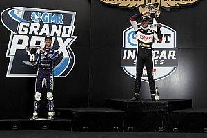 Grosjean sur son premier podium IndyCar, la victoire pour VeeKay
