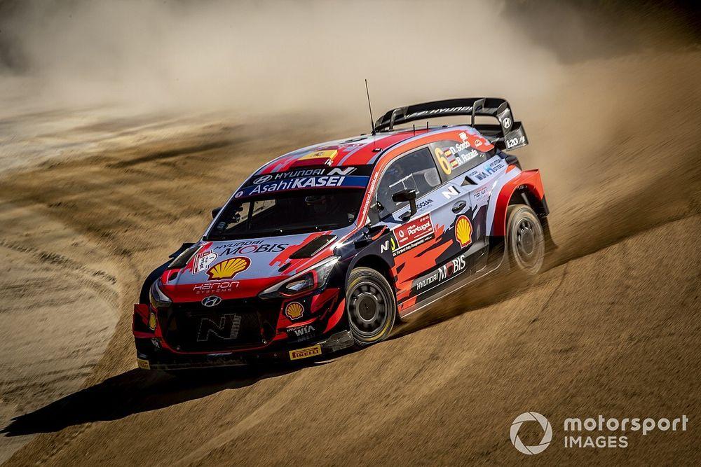 Portugal WRC: Sordo leads Hyundai 1-2-3 after morning loop