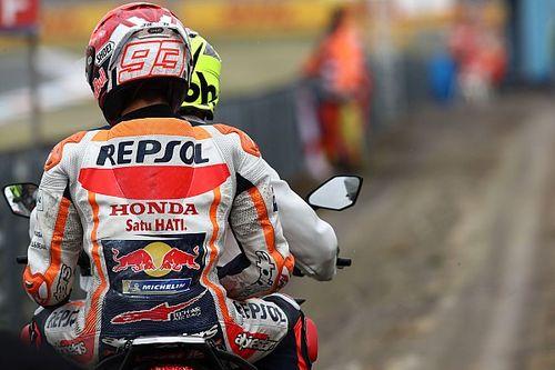 Márquez reclama a Honda mejorar la electrónica tras su tremenda caída