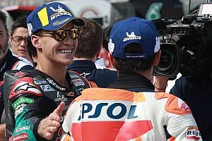 """Quartararo: """"No tengo datos para saber si Márquez hace más rápido la última curva"""""""