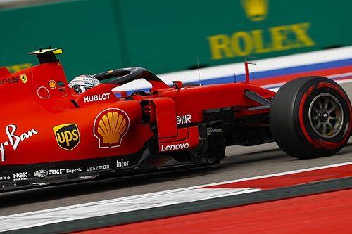 Leclerc snelste in laatste training Rusland, Verstappen spint