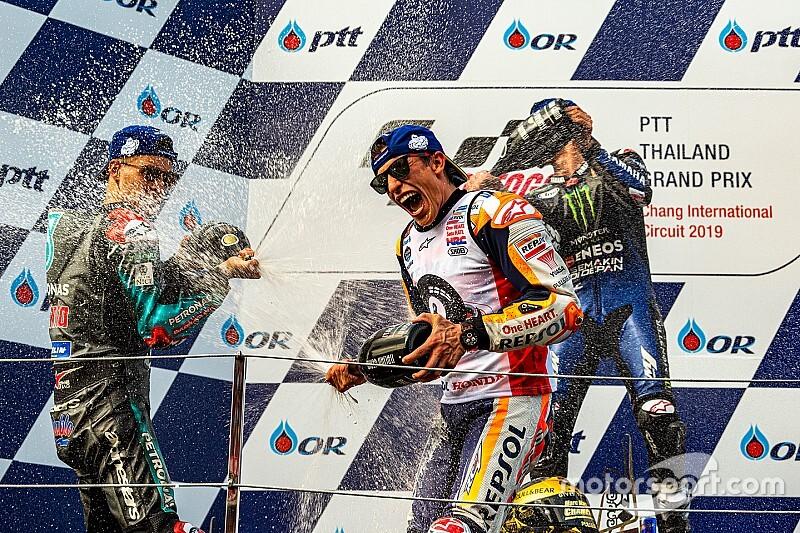 Pedrosa felicita a Márquez y sus rivales se deshacen en elogios