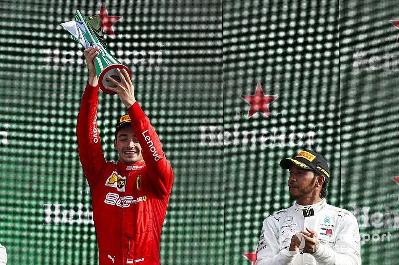 Képekben Leclerc első monzai F1-es győzelme, a Ferrarival