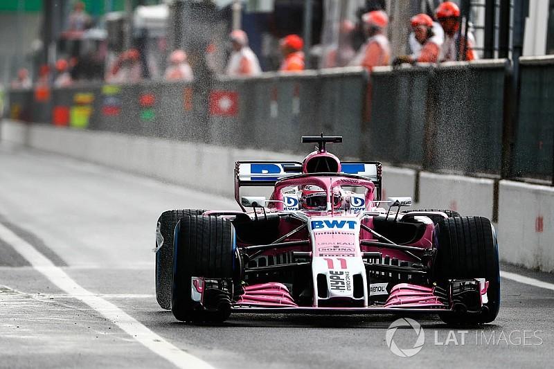Italian GP: Perez leads wet FP1 from Raikkonen, Ocon