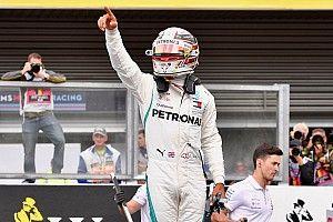 Hamilton aprovechó la lluvia para lograr la pole y Pérez fue cuarto