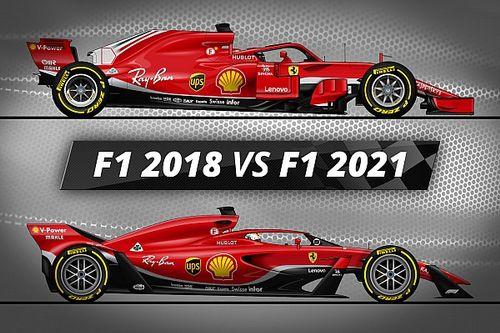 Vidéo - F1 2018 vs Concept 2021 : les différences