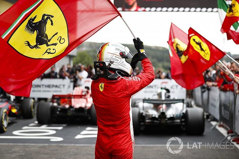 Belçika GP: Kaosla başlayan yarışta zafer Vettel'in, Hamilton 2.!
