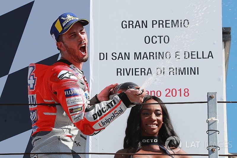 Dovizioso obtuvo una cómoda victoria en Misano