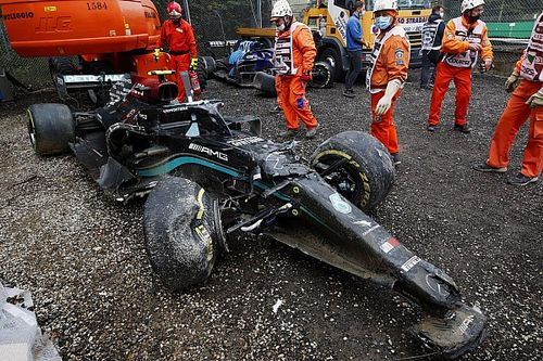 Bottas crash damage cost could cost Mercedes F1 upgrade push