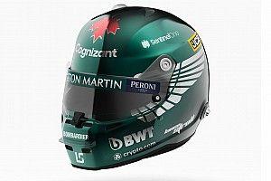 Photos - Le nouveau casque de Stroll chez Aston Martin