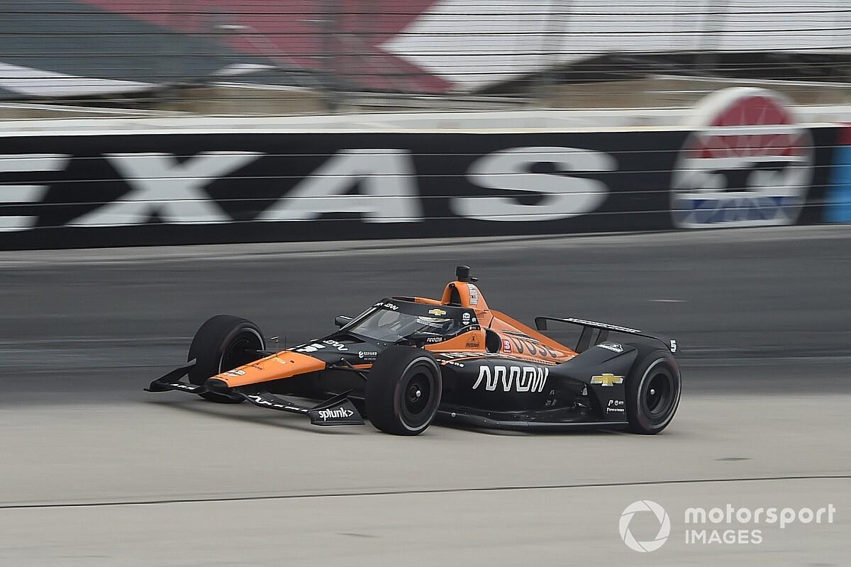 O'Ward leads 17-car IndyCar test at Texas