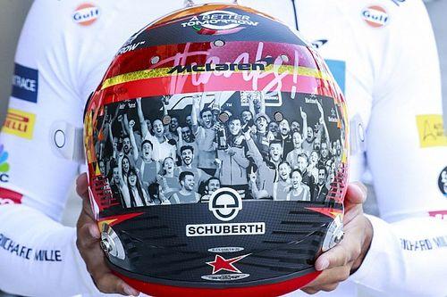 Los cascos especiales para la despedida de la F1 en Abu Dhabi