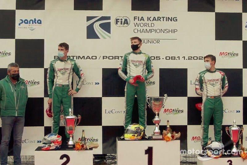 Pedro Hiltbrand, tercero en el Mundial de karting 2020