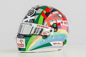 Un casque très coloré pour Giovinazzi à domicile