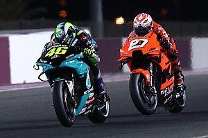 """Rossi speelt bijrol in Qatar: """"Maar mijn pace was niet slecht"""""""
