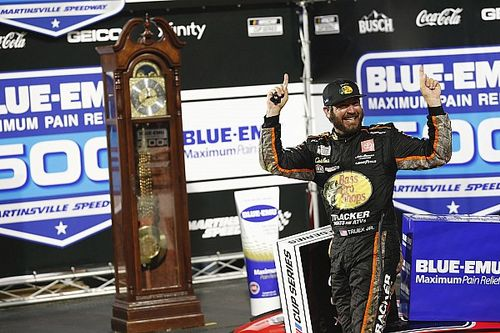 Truex holds on to win rain-delayed Martinsville NASCAR Cup race