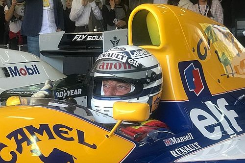 Patrese reunited with Williams FW14 for Minardi Day at Imola