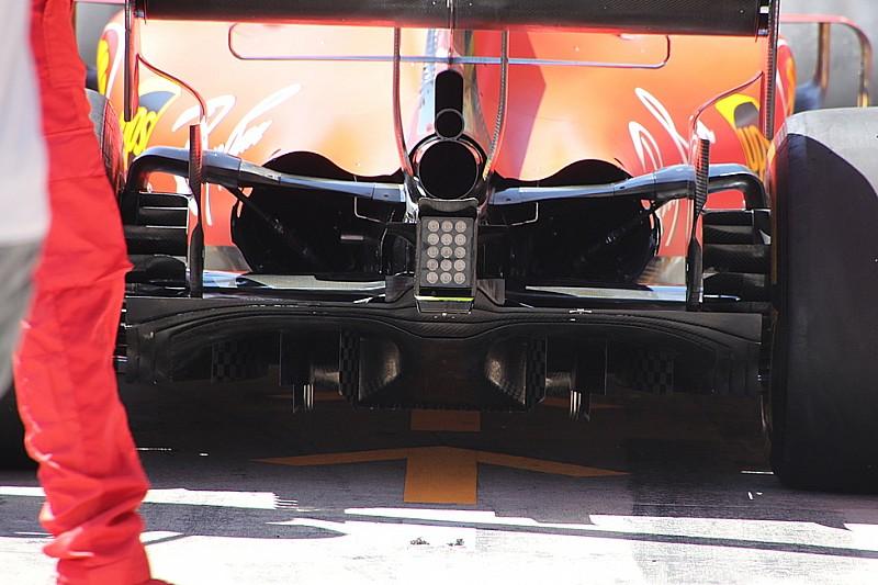 Ferrari: sono apparse le frange nelle paratie del diffusore