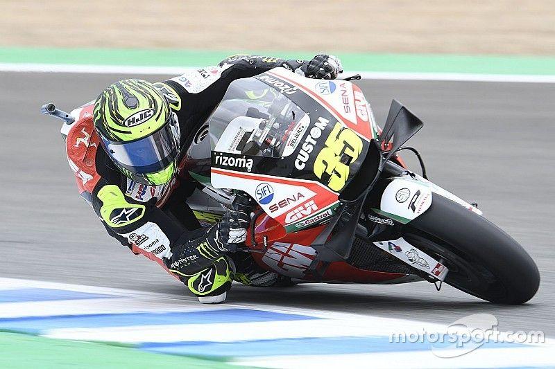 MotoGP, Test Jerez, Ore 12: Crutchlow porta la Honda in testa. Morbidelli 2°