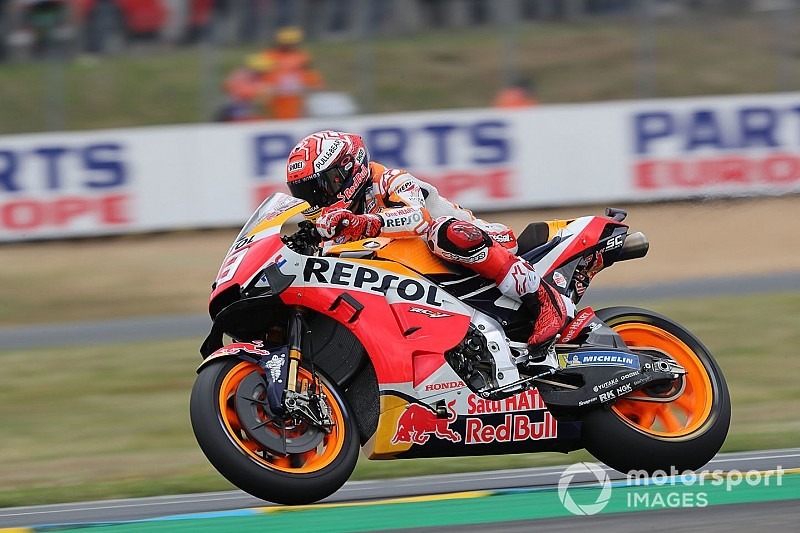 Le Mans MotoGP: Marquez secures pole despite crashing