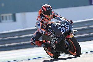 Márquez toma la cabeza en la última mañana de test en Jerez