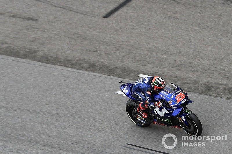 Sepang MotoGP: Vinales heads Rossi in damp warm-up